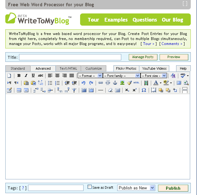 WriteToMyBlog: How To Use