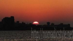 台湾 淡水 夕陽