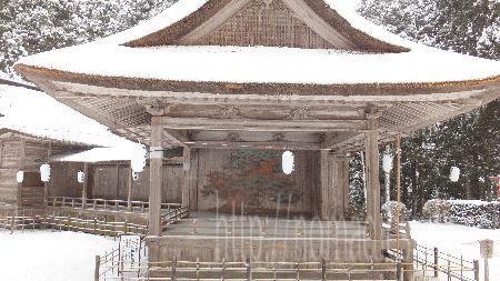 中尊寺 白山神社 能楽の舞台
