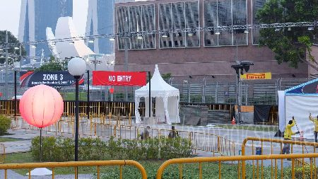 F1 シンガポールGP ゲート内部