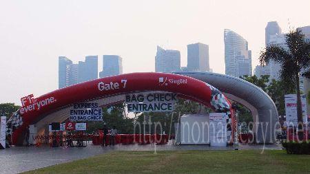 F1 シンガポールGP Gate7