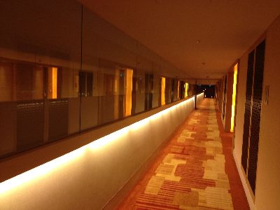 マリーナベイサンズの廊下