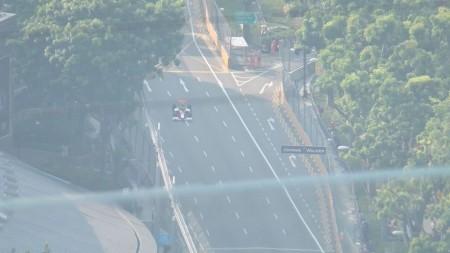 シンガポールのF1のテスト走行の模様1
