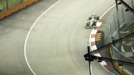 シンガポールのF1予選の模様1