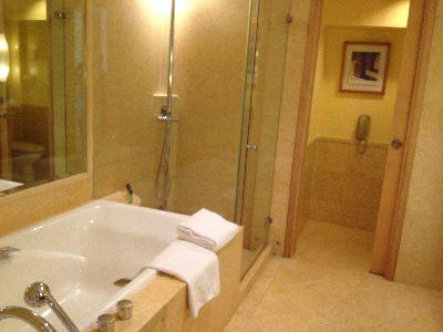 Fullerton Hotelの部屋(シャワー室)