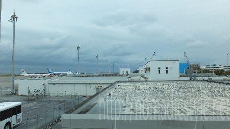 那覇空港 ラウンジ ANA LOUNGE 窓からの景色
